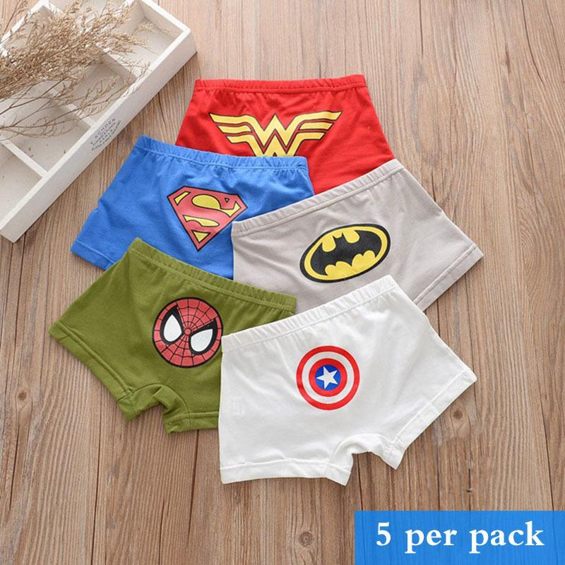8b382d964 2019 Cotton Children'S Underwear Boys And Girls Shorts Solid Color Cartoon  Baby Panties 5 Pack From Cynthia02, $29.17 | DHgate.Com