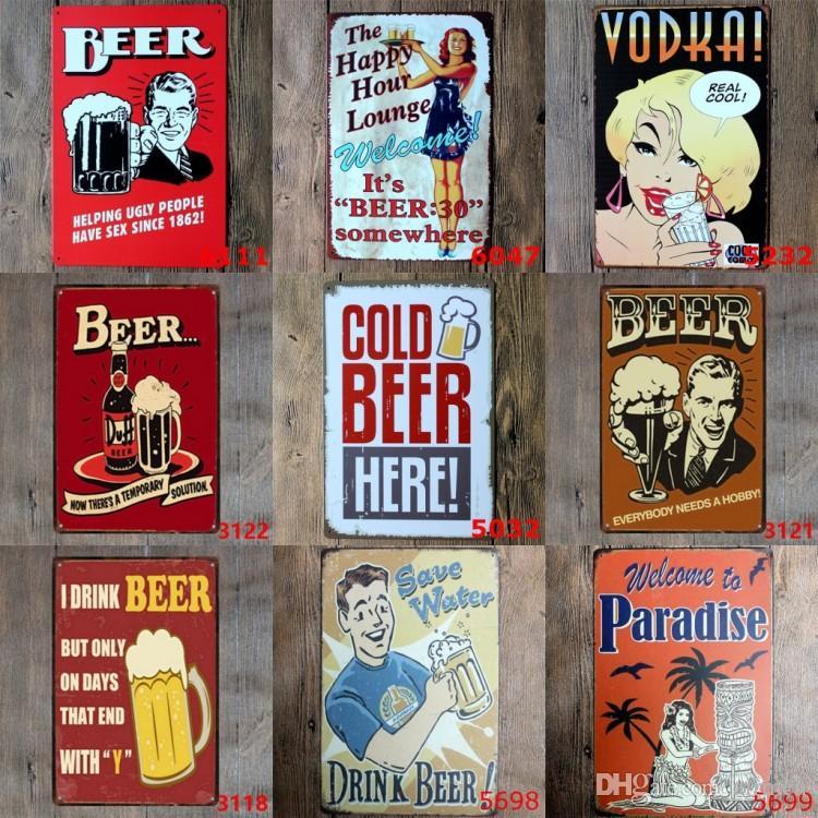 Satın Al Farklı Temalar Bira Garaj Uyarı Motor Vintage Zanaat Kalay