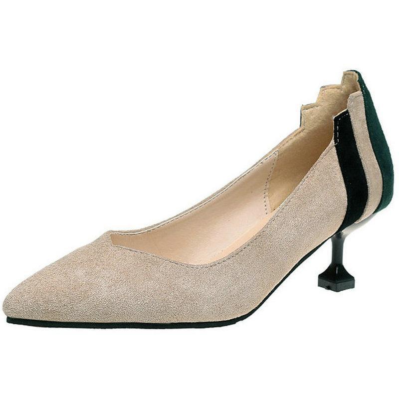13e7b3c42 Compre Sapatos De Vestido Nova Moda Senhora Do Escritório Mulheres Bombas  Sexy Fina De Salto Alto Formal 2019 Nova Mulher Feminino Raso Primavera  Encantador ...