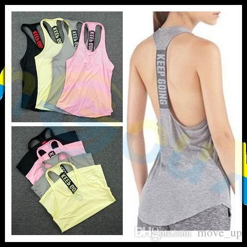 2a6888f630c 2019 Summer Women Gym Sports Vest Sleeveless Shirt Fitness Running Clothes  Sexy Tank Tops Workout Yoga Singlets Quick Dry Tunics #20498 From Move_up,  ...