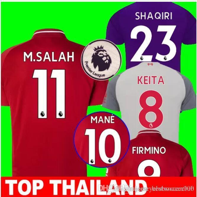 9282b709696 2019 Thai Quality SHAQIRI M SALAH KEITA FIRMINO LALLANA HENDERSON Soccer  Jerseys 18 19 VAN DIJK MANE STURRIDGE Football Shirts Uniform Plus Size  From ...