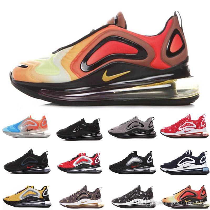 Nike air max 720 airmax 720s Air Running Shoes Hombre Mujer Rosa Mar Gris Carbono Desierto Northern Lights Día Noche Negro Rojo Zapatillas de deporte