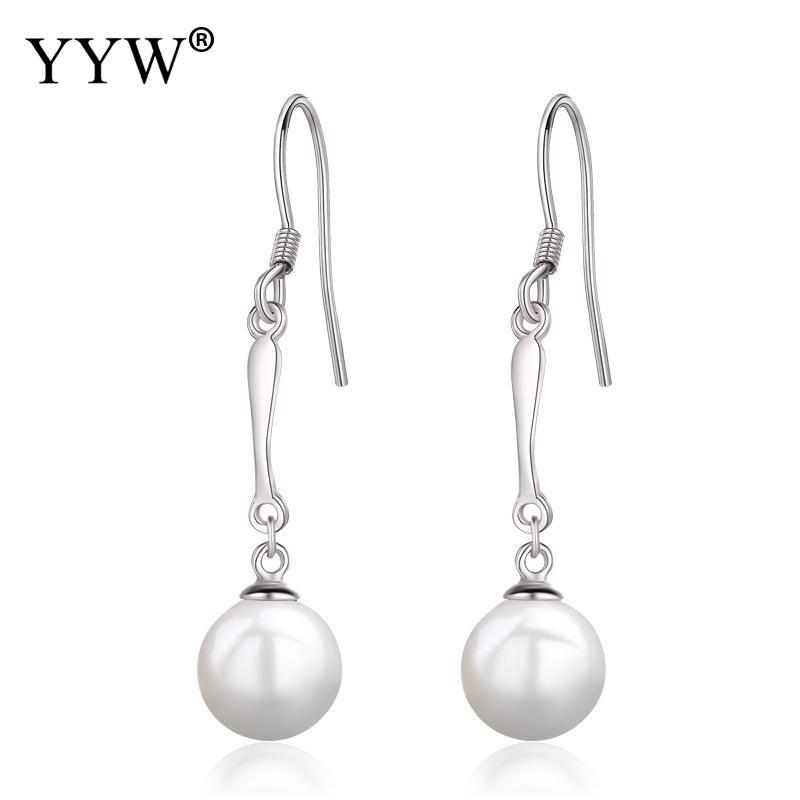 52855b6fe55 925 Sterling Silver Drop Earring Fashion Freshwater Pearl Natural ...