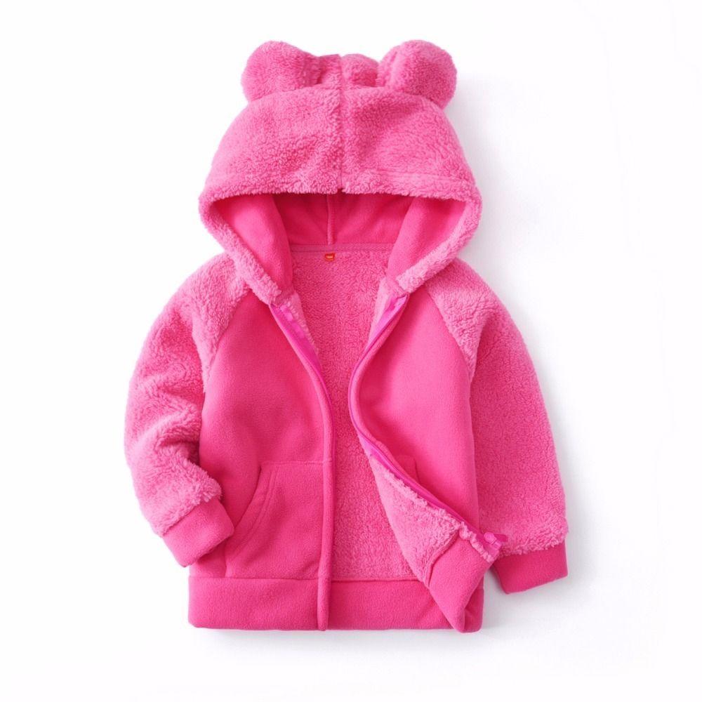 4ddc20d23fae Good Quality Baby Girls Coat 2019 New Winter Faux Fur Fleece Jacket ...