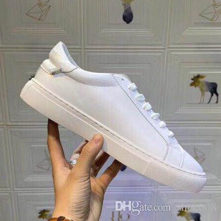 2019 Luxury Designer Top Quality White ACE Embroidered Mens & Women Genuine Leather Designer Shoes Size:35-44 With box A34