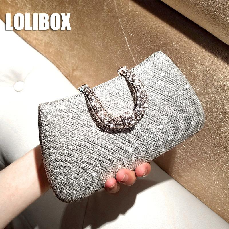 e3b534afec LOLIBOX New Alloy Diamond Flash Bling Women Evening Clutch Bags ...