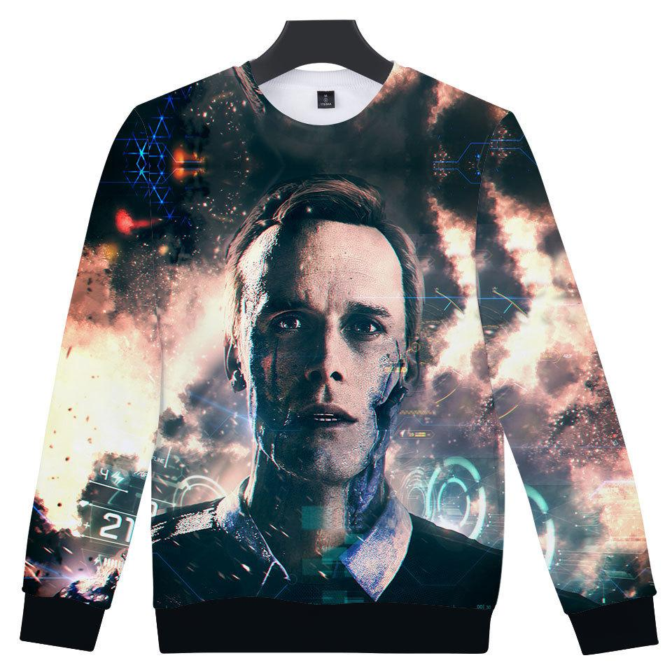 2019 3d Hoodies Men/women Fashion Detroit Become Human 3d Print Harajuku Capless Sweatshirt Men/women Detroit Clothes