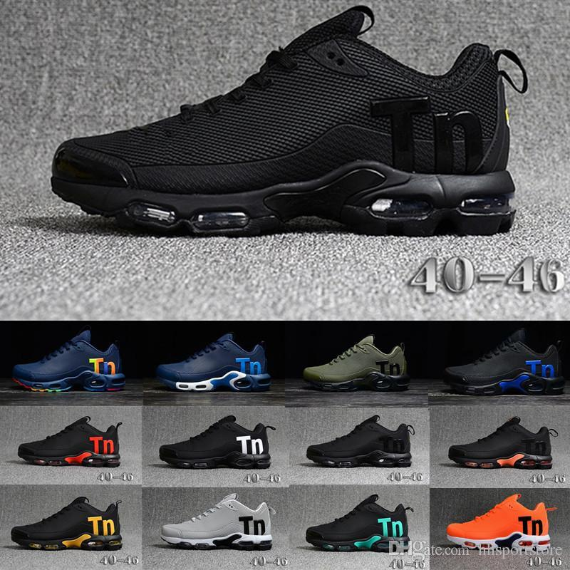 2019 New Mens Mercurial Plus Tn Ultra SE Black White Orange Desinger casual Shoes Women MenTrainers Sports Sneakers Size 40-46