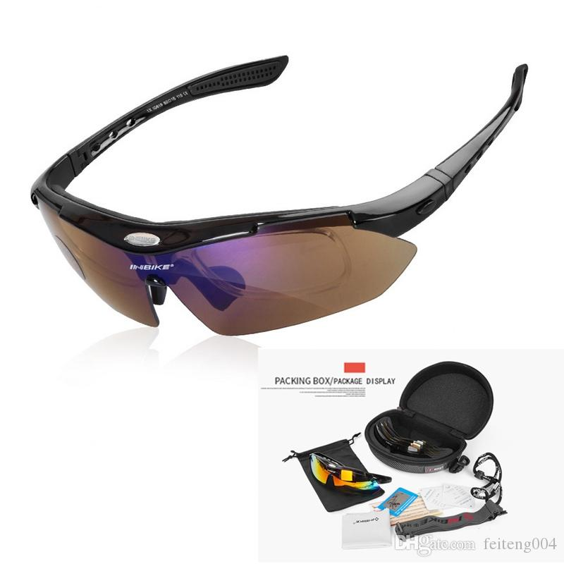 Polarized Cycling Half Frame Sunglasses UV400 Outdoor Sport Professional Goggles