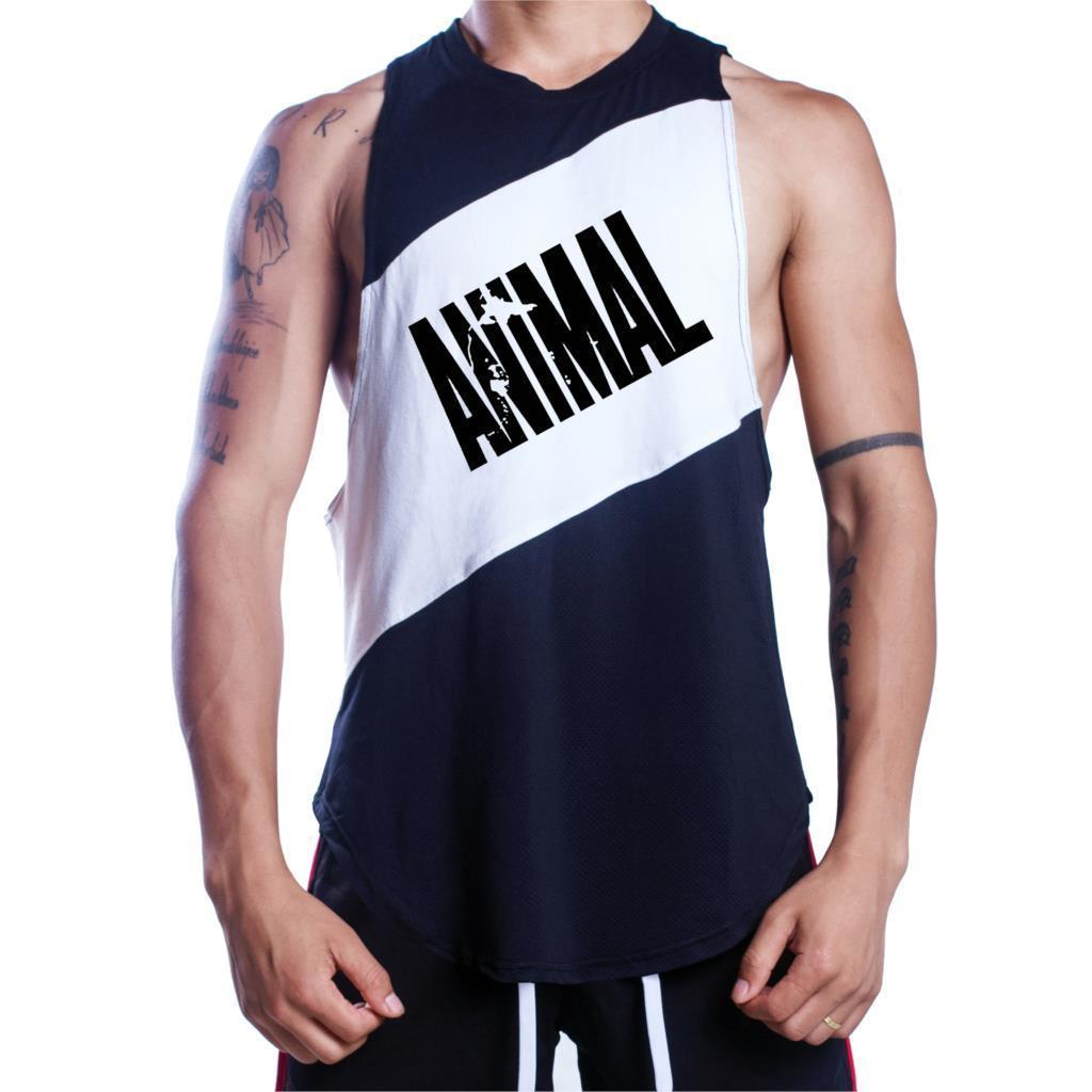 8629f85d Brand Bodybuilding Clothing Mens Gyms Tank Tops Low Cut Armholes Vest Sexy  Men's Undershirt Muscle Animal Print Fitness Stringer