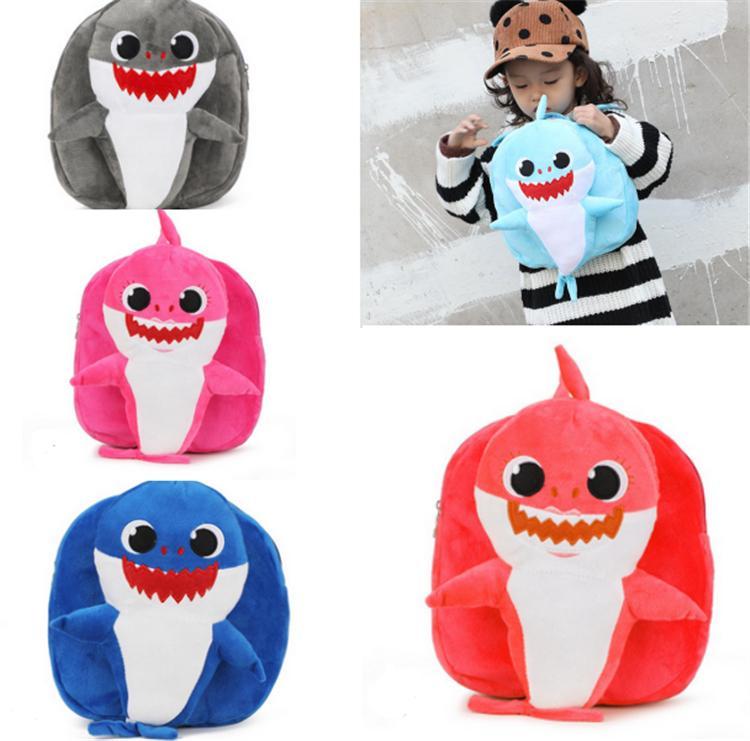 e9c7e6ce0 2019 INS Kids Baby Shark Backpack PinkFong Cartoon Plush School .