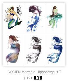 TCOOL Çapa Geçici Dövmeler Su Geçirmez Kadınlar Moda Sahte Vücut Sanatı Kol Dövme Etiket 10.5X6 cm Çocuklar El Dövme Kağıt T-020