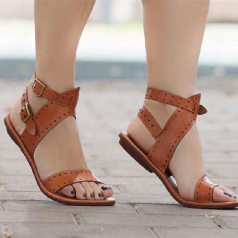 Mode Frauen Sandalen Frauen Schuhe Römischen Sandalen Kreuz Gebunden Schuhe Frauen Retro Alias Strand Gladiator Flache Sandalen Plus Größe 43 Frauen Sandalen