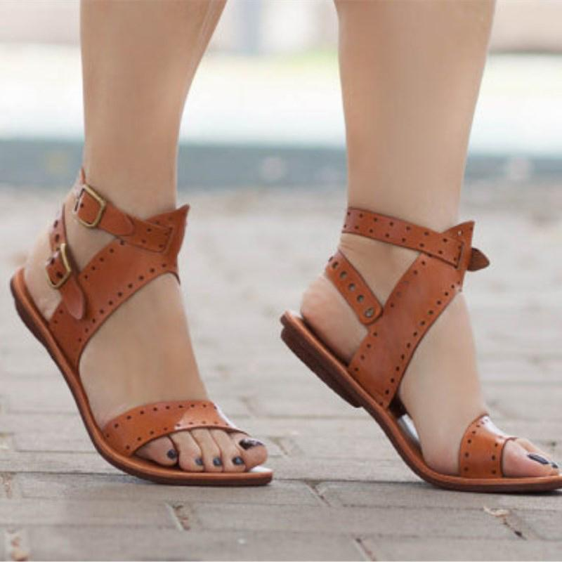 4964c7202964a7 Tangnest Summer Gladiator Sandals Rome Women Platform Beach Slip On Ankle  Strap Flats Shoes Lady Casual Fashion Shoes XWZ5379 Discount Shoes Platform  Heels ...