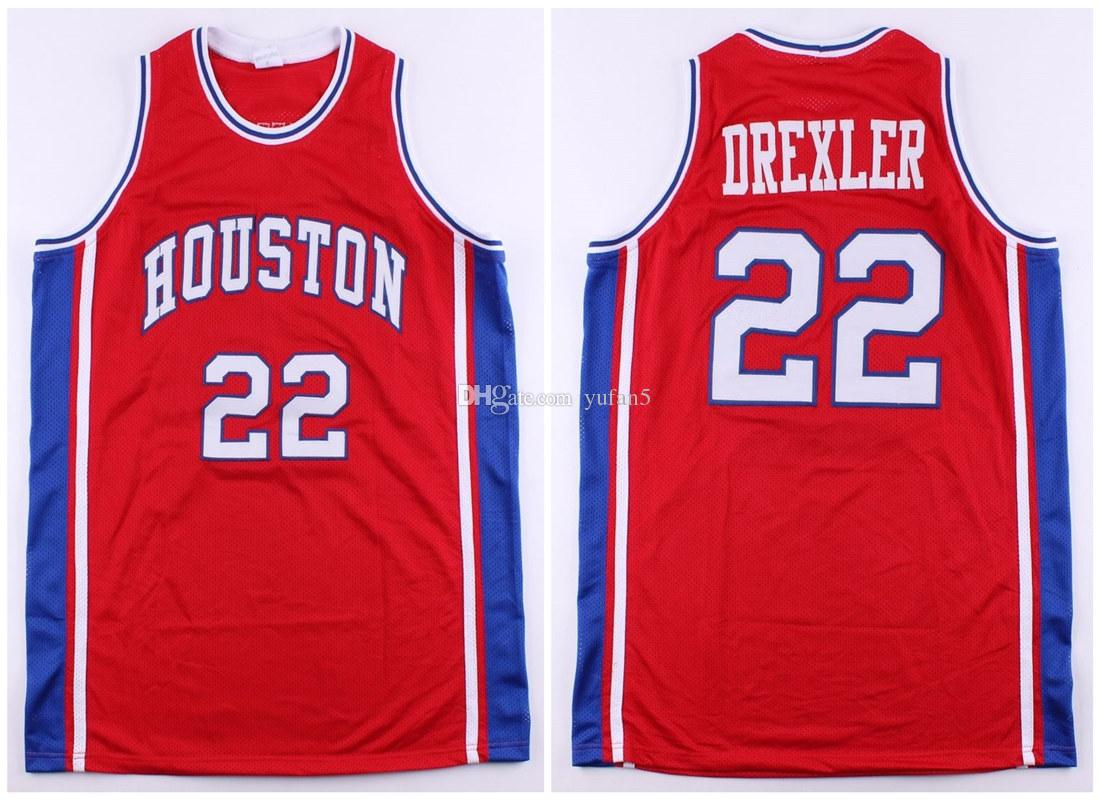reputable site d9798 3f4d4 #22 Clyde Drexler Houston Cougars 1983 True School college Retro Classic  Basketball Jersey Mens Stitched Custom Number and name Jerseys