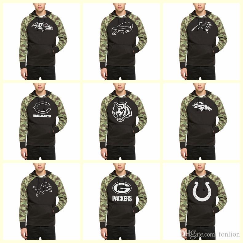 7317b8cf Men Top Quality 2019 Hot Sweater sweatshirt Ravens Bills Panthers Bears  Bengals Broncos Lions Brand hoodie 47 Black Alpha Hoodie