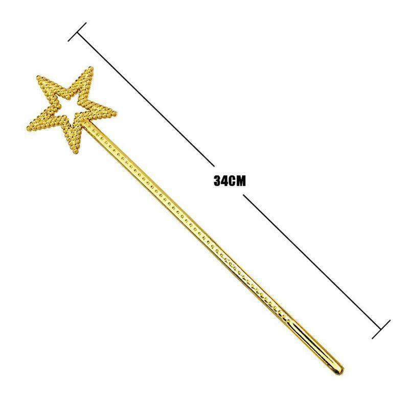Mini Fairy Star Princess Wands Star Shape Wands With Beads For Kids Birthday Halloween Cosplay Party Decoration Supplies