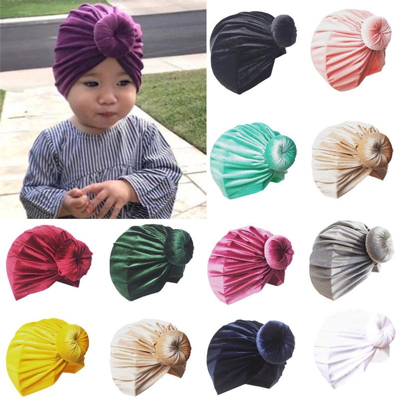 2019 Baby Girl Hat Vintage Girls Turban Hat Newborn Cap Knotted Children  Cap Hot Fashion Toddler Kids Hats Girls Hair Accessories From Universecp 548ccc4405f