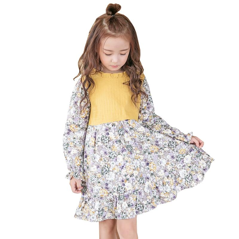 faa763937 2019 Girls Dress Summer Cotton Splice Printing Dress Toddler Children Flower  Girl Dresses Princess Prom Party Children'S Clothes From Victorys09, ...