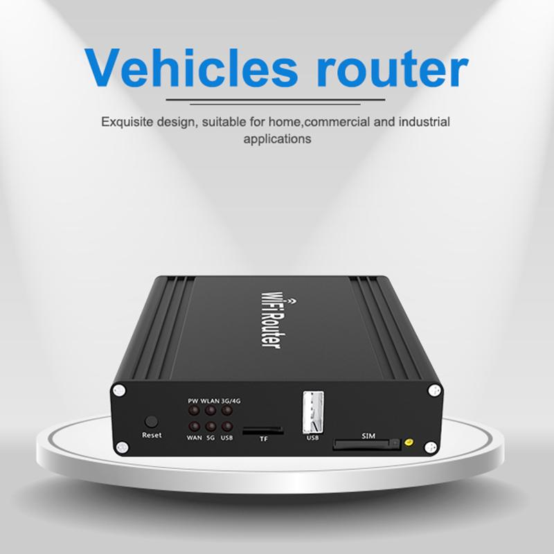 car wifi router with sim card 4g lte and usb modem 5G dual band 11AC  cellular vpn wireless router for car bus
