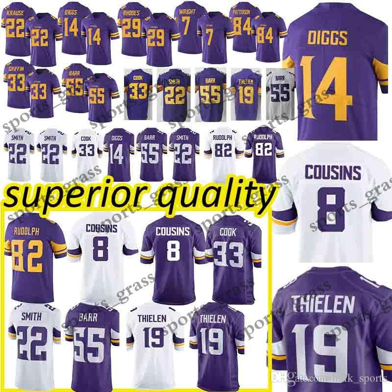 163f591cf3c 2019 Adam 19 Thielen Minnesota Jerseys Vikings Stefon 14 Diggs Sam 8  Bradford Harrison 22 Smith Case 7 Keenum Jersey From Hulk_sports, $23.5 |  DHgate.Com