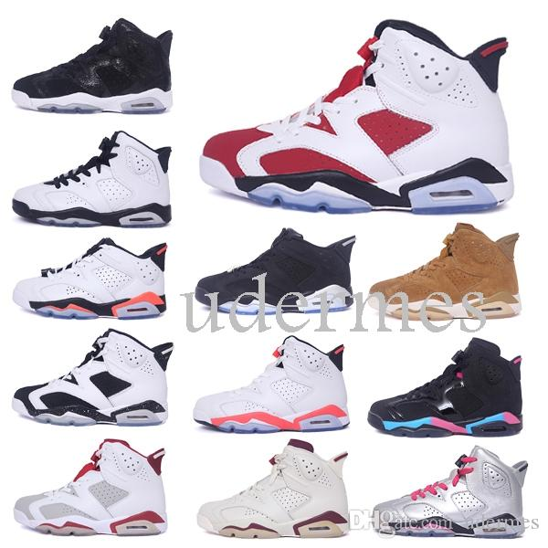 eac4c5314e0fb3 2019 Hot 6 Men Basketball Shoes CNY Black Cat Carmine Pantone Golden  Baskets Suede Gatorade 6S Designer Sports Chaussures Sneakers Online with   5076.15 Pair ...