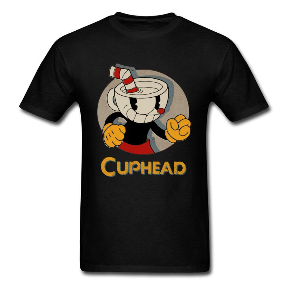 Pugni Cuphead A buon mercato Anime Tees O Collo Estate Autunno Top in puro cotone Magliette per studenti 3d T-Shirt stampate anni '90 Cartoon Comic