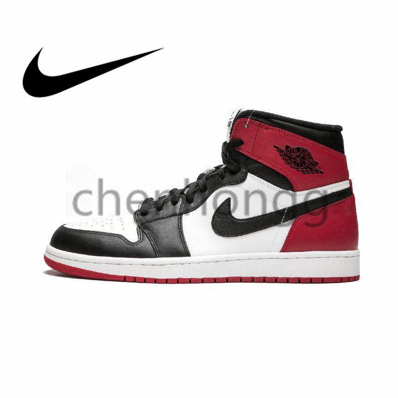 2750d92bfe32 Authentic Original Nike Men Women Basketball Shoes Sneakers Air Jordan 1 OG  Retro Royal AJ1 Chicago Bulls High 1 OG TOP 3 Banned Bred Royal Blue Mid  Hare ...