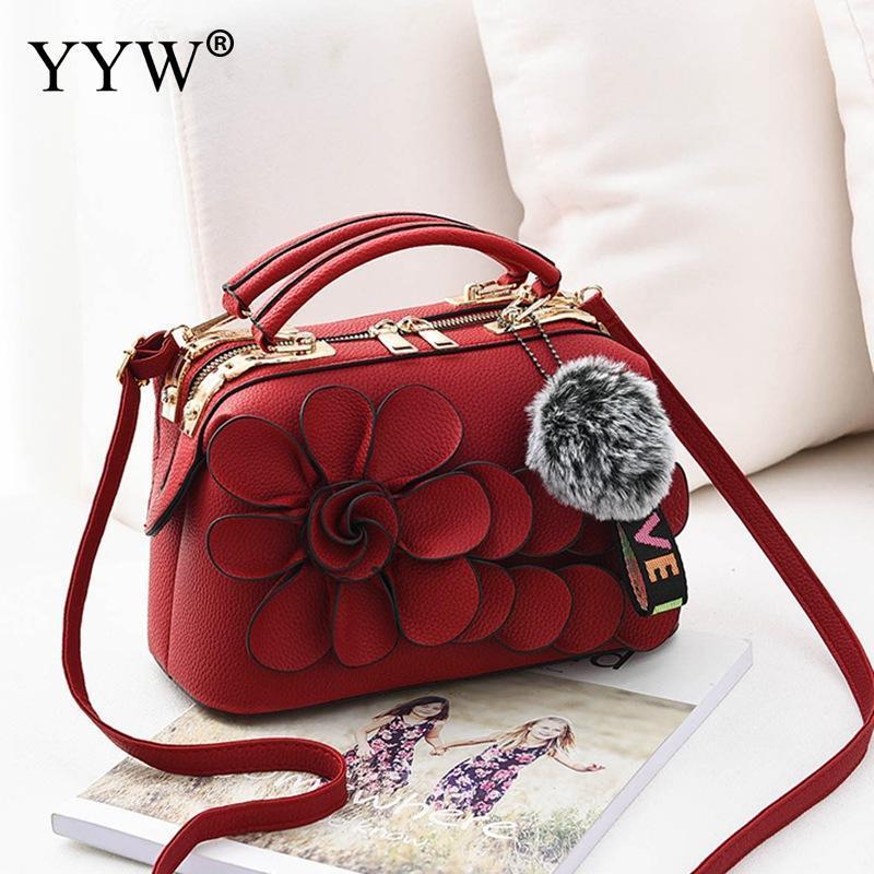 Floral Handbag Durable Women Top Handle Hand