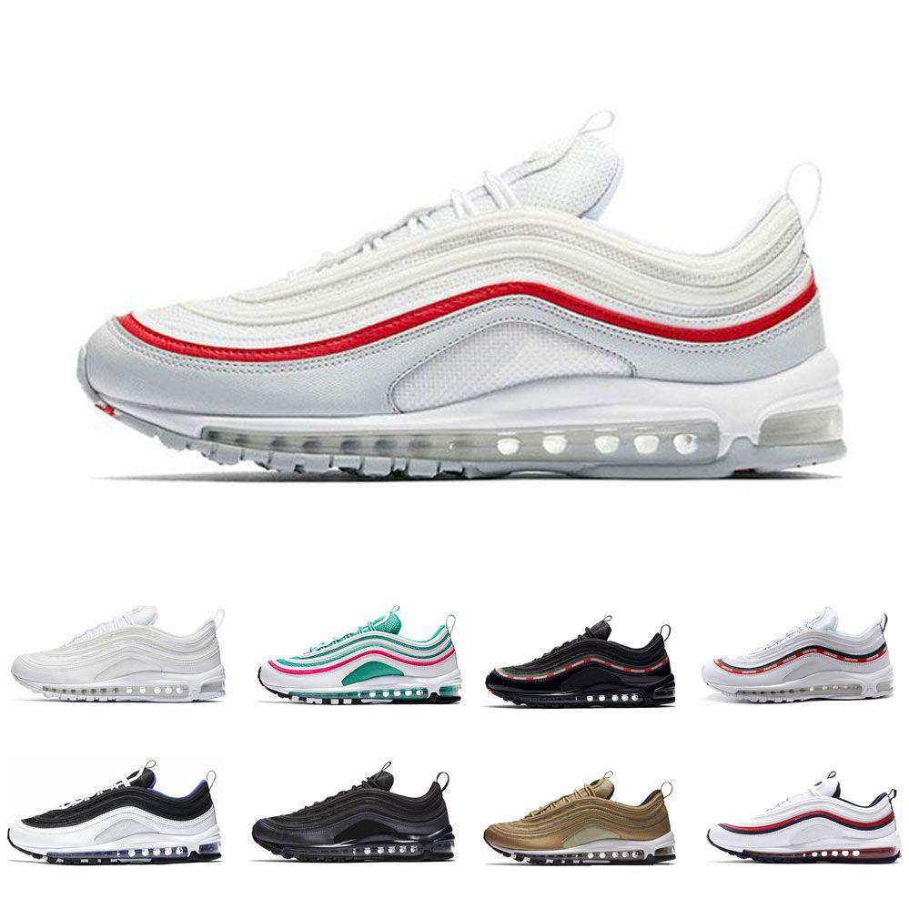 AAA+ 97 Running Shoes Mens Sneaker Black Bullet Triple White OG ... cdc6b39c8