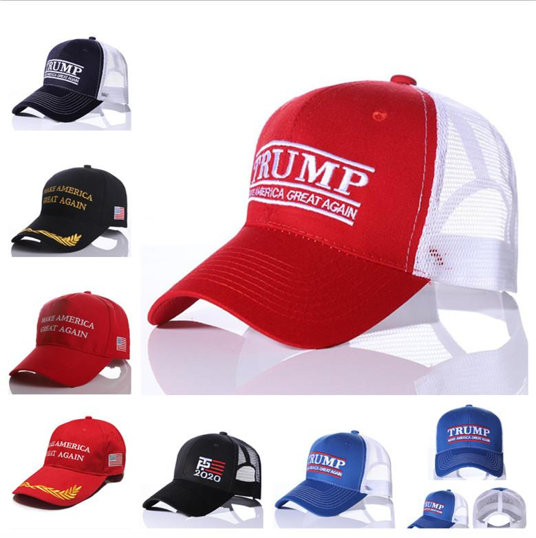 d4e95ed40cb 2019 Embroidery 2020 Trump Ball Cap Make America Great Again Baseball Caps  Trucker Cap Summer Casquette Mesh Visor Snapbacks Ponytail Hats A41205 From  ...