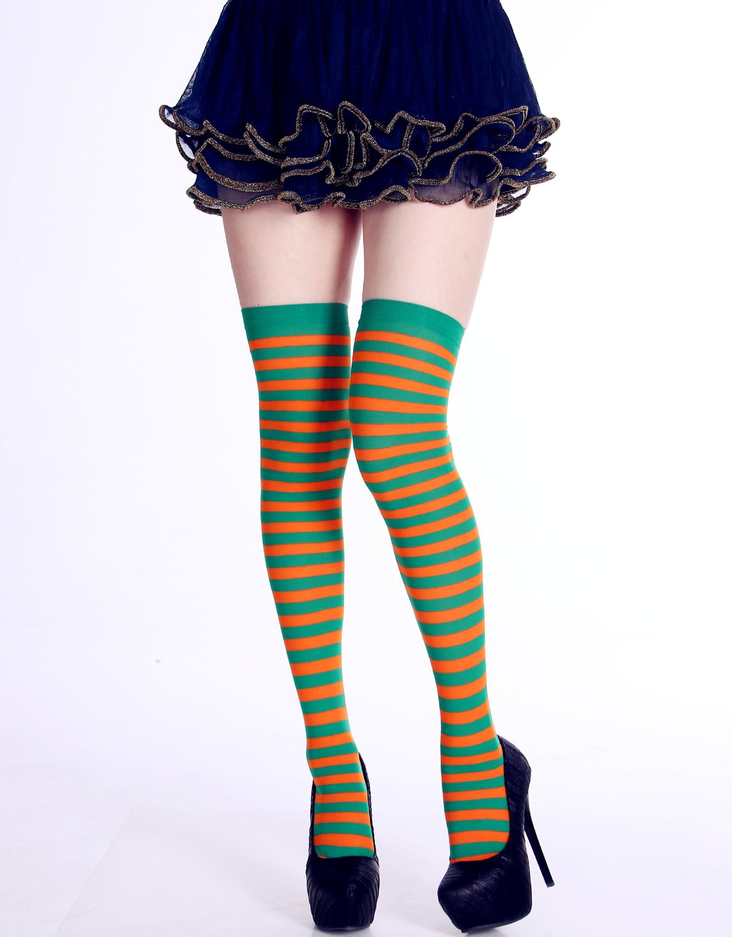 e53f9e74675 2019 Women Over Knee Long Sock Striped Thigh High Socks Cute Cosplay  Costume Stockings For Party Favors Costume Masquerade Performance Costum  Pro From ...