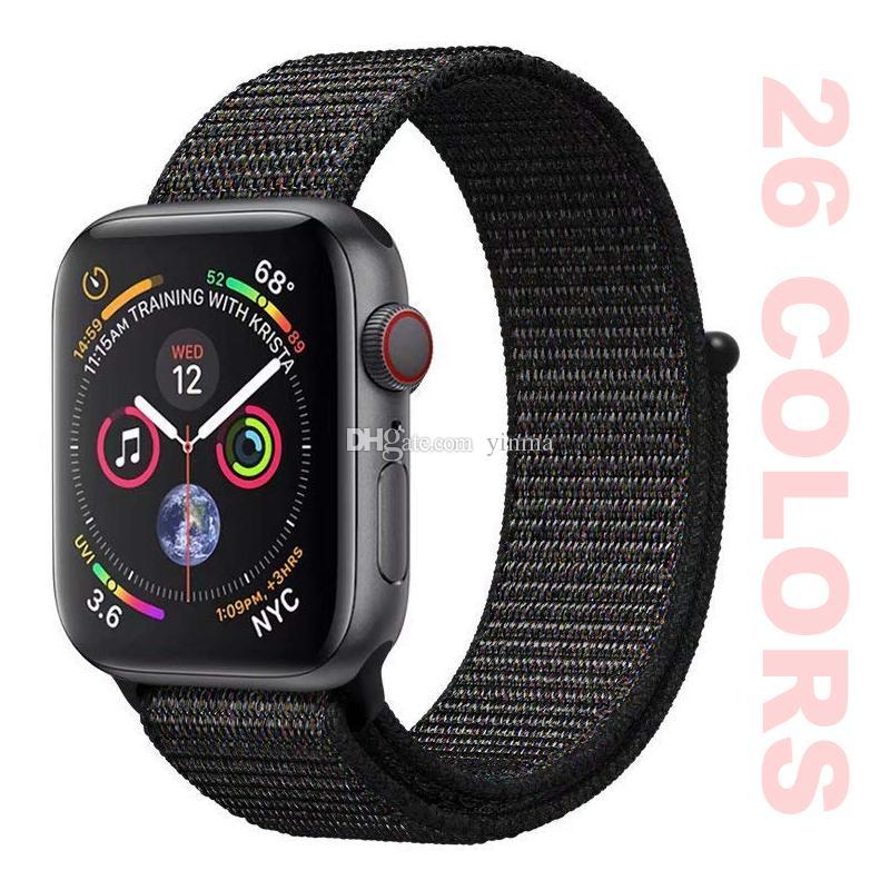 51571d54243 Compre Para IWatch Smartwatch Strap Banda De Nylon Esporte Loop 38 MM 40 MM 42  MM 44 MM Apple Assista Série 4 3 2 1 De Yinma