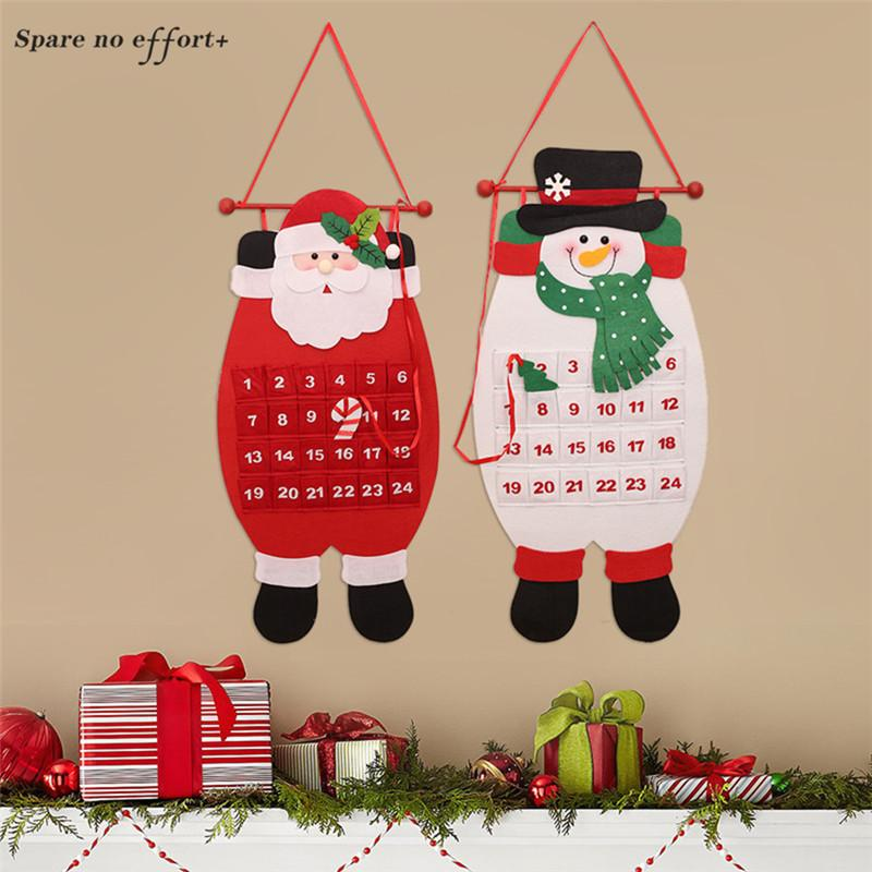 Christmas Countdown.Date 1 24 Christmas Countdown Calendars Xmas Hanging Ornaments Advent Calendar New Year Gifts For Children Calendario Adviento
