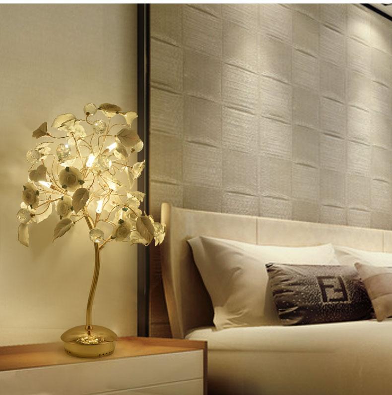 2019 Romantic Led Christmas Tree G4 Table Lamps Romantic Ceramic