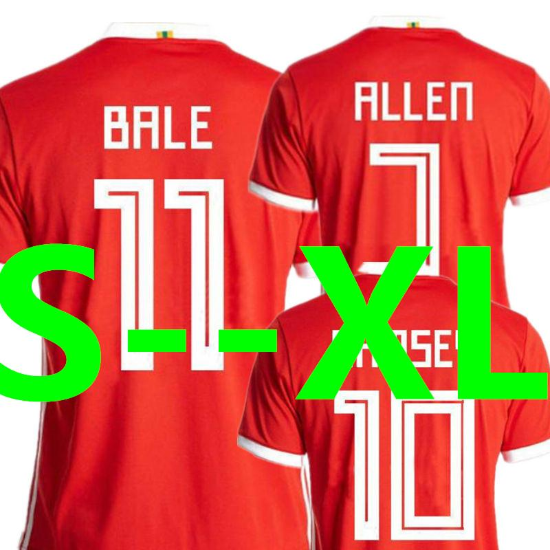 14ce43e0a1f 2019 Wholesale Soccer Jersey Wales World Cup 2018 GARETH BALE AARON ...