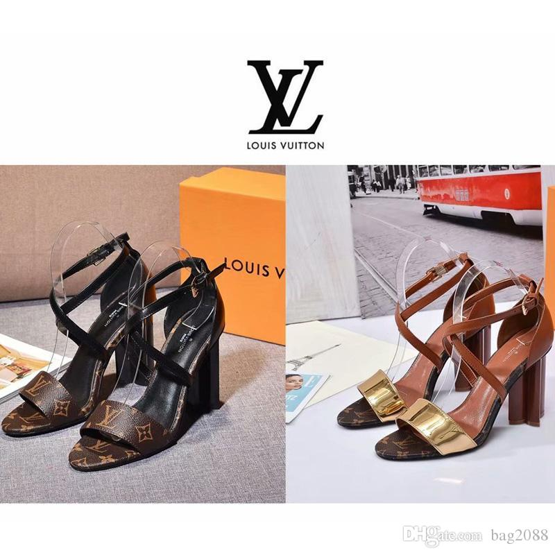 2e08d9e89 2018 New Women s High-heeled Sandals Fashion Luxury Designer Create ...