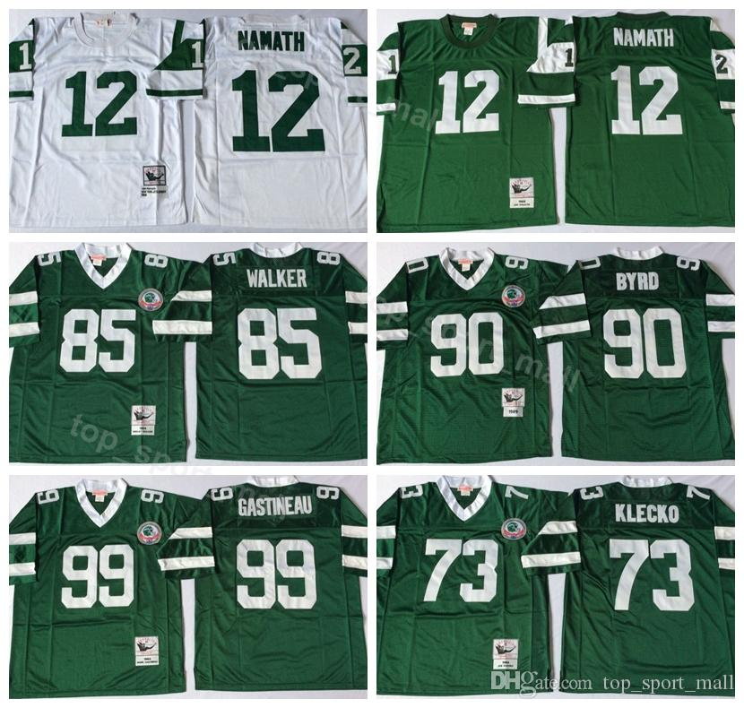 Discount New York Jets Vintage 12 Joe Namath Jersey Men 73 Joe Klecko 99 Mark  supplier
