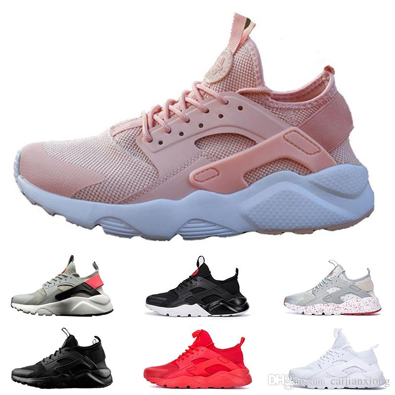 differently f9fe4 49bbd 2019 2019 New Huarache 4 IV Ultra Running Shoes For Mens Women Fashion  Triple White Black Red Huaraches Sports Designer Sneakers Outdoor Shoe From  ...