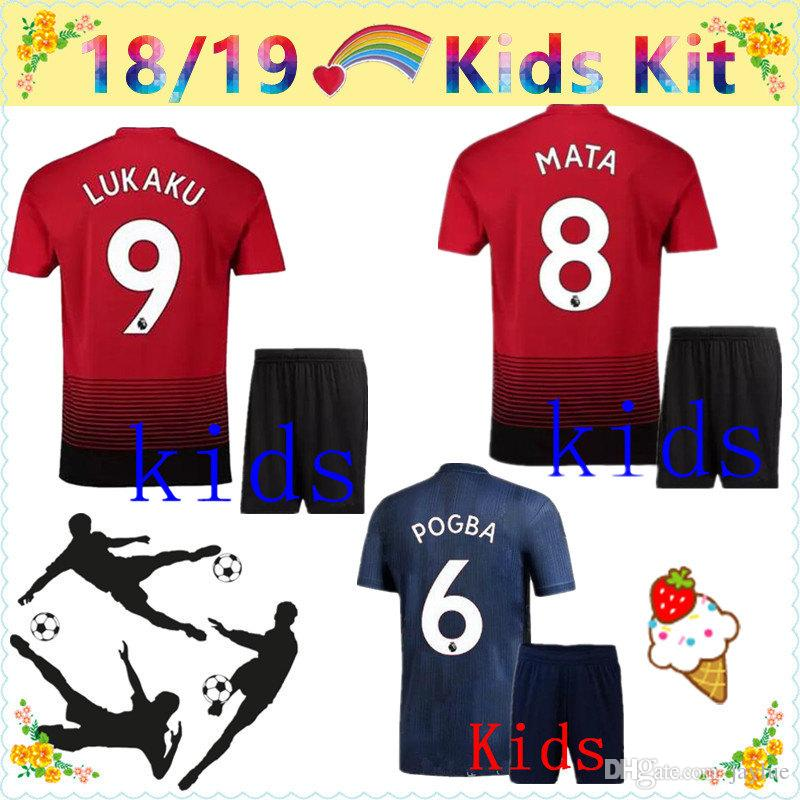 eb44a7a31 2019 top quality 2018 2019 manchester united soccer jersey kids kit