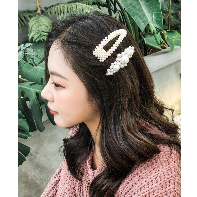 887a698cc 2019 Korean Fashion Women Imitiation Pearl Hair Clips For Girls Sweet Alloy  Bb Hairpins Barrettes Children Hair Accessories Fashion Hair Bands  Fashionable ...