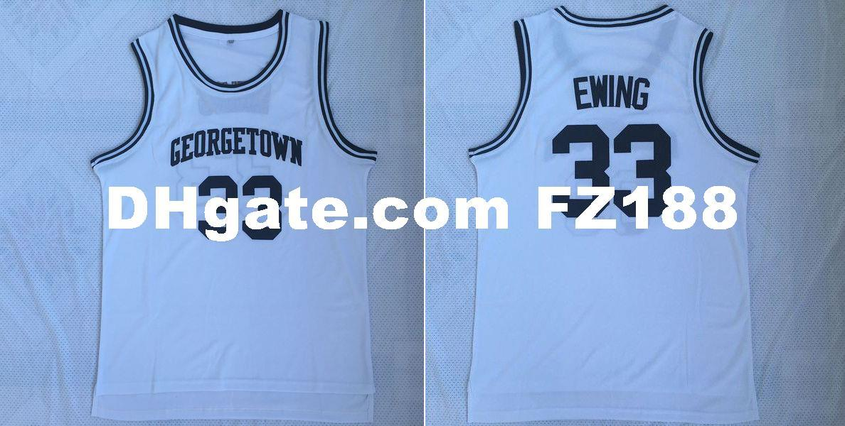new products b94b9 36ce2 Vintage Patrick Ewing #33 Georgetown Hoyas College Jersey White Stitched  XS-6XL