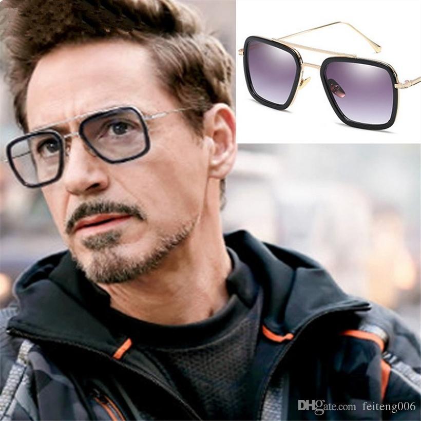 0bbd3945ba XojoX Hombres Vintage Steampunk Gafas De Sol Diseñador De La Marca Tony  Stark Iron Man Gafas Retro A Prueba De Viento Steam Punk Gafas De Sol UV400  # 15976 ...