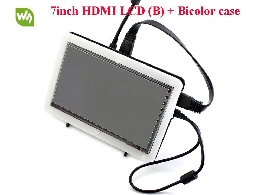 Freeshipping 7inch HDMI LCD 800*480 USB Capacitive Touch screen for  Raspberry Pi 2/3 Model B Free driver for raspbian/Windows 10/8 1/8/7