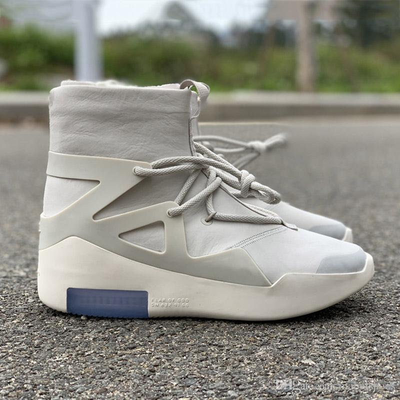 57d914f14a14 HOT Sale Air Fear Of God 1 Men Shoes FOG Boots Light Bone Sail Basketball  Shoes Men Sports Designer Zoom Sneakers Size 5.5 12 Men Sneakers Sneakers  Men From ...