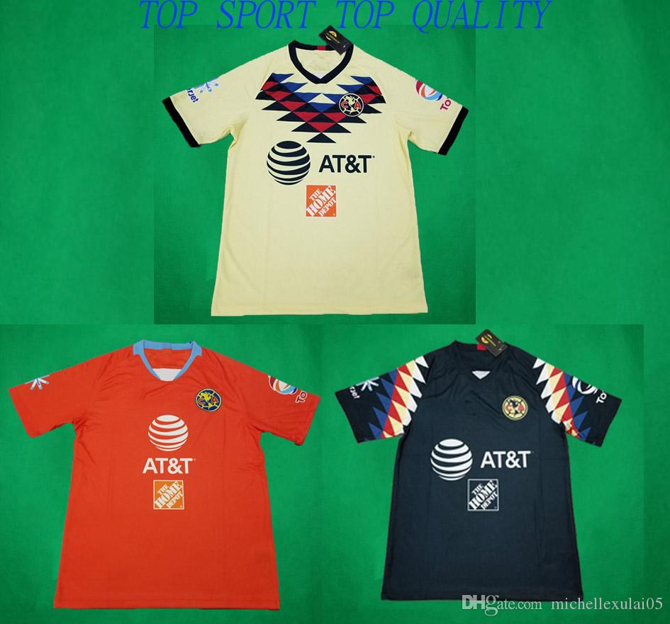 e1ade81b8a4 2019 19 20 LIGA MX CA Club America Soccer Jersey 2019 2020 O.PERALTA  C.DOMINGUEZ P.AGUILAR Football Shirts CA Home Away Third Football Jerseys  From ...
