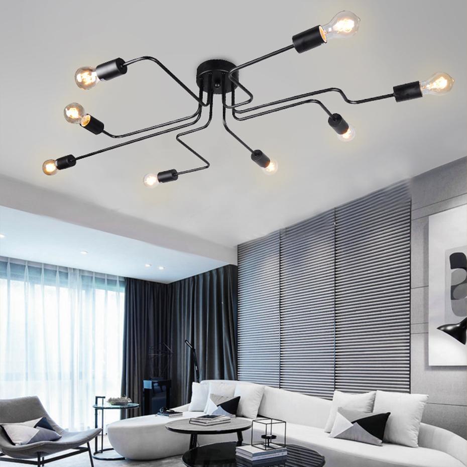 Modern led ceiling chandelier lighting living room bedroom super bright bulb chandeliers creative home lighting fixtures small pendant lights metal pendant