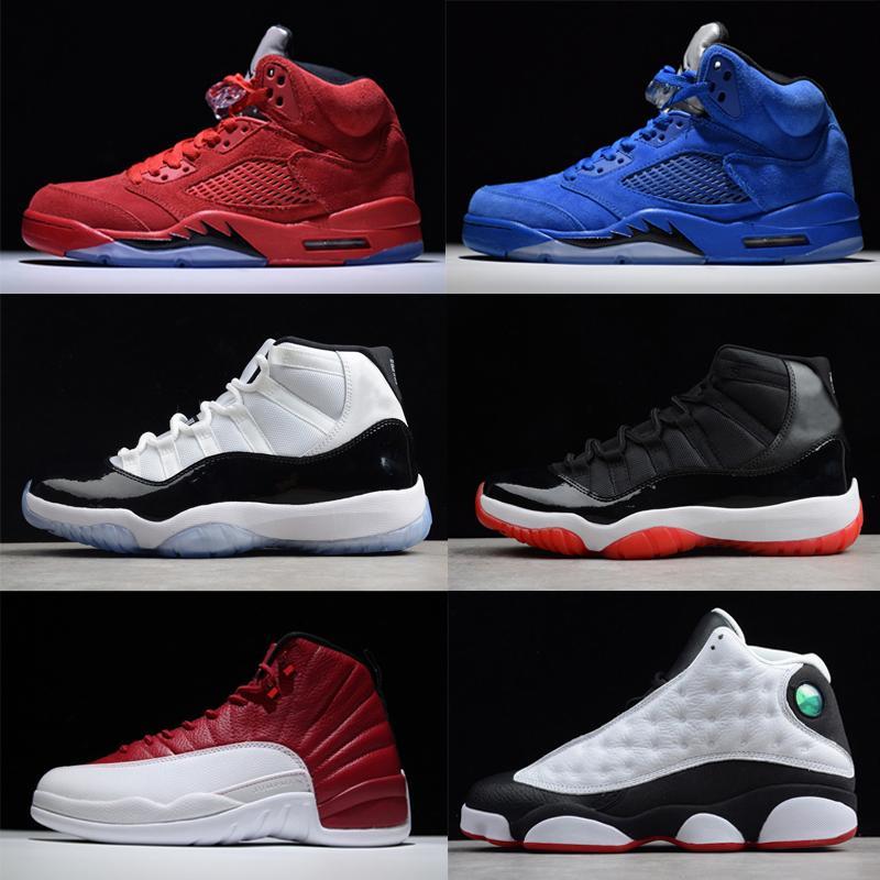 info for 778f2 ab200 Compre Hot Retro Hombre Diseñador De Baloncesto Zapatos Al Aire Libre 5s  11s 12s 13s Zapatillas 5 11 12 13 Blanco Rojo Negro Gris Azul Barato A   38.2 Del ...