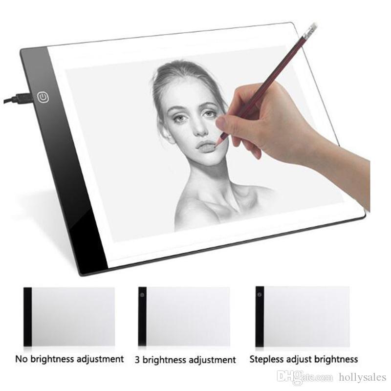 Tavoletta grafica A4 digitale USB Tavoletta grafica LED Light Tracing Copy Board Tavolo da disegno elettronico per pittura con tavolo da disegno DHL free