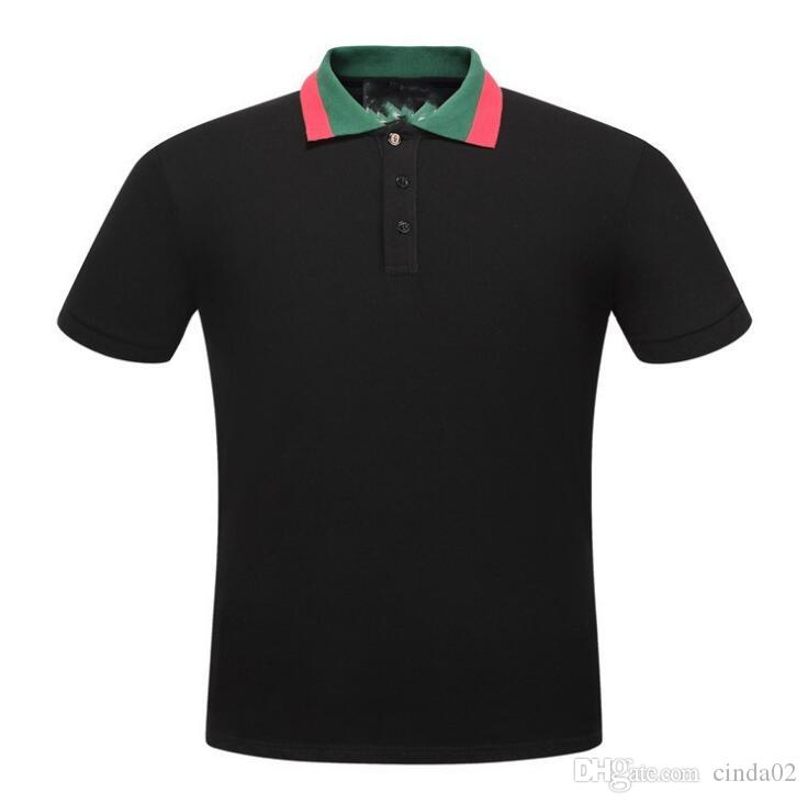 Men Polos Letter G Fashion Polo Shirts Designer Cotton Polos Top Tee For Men